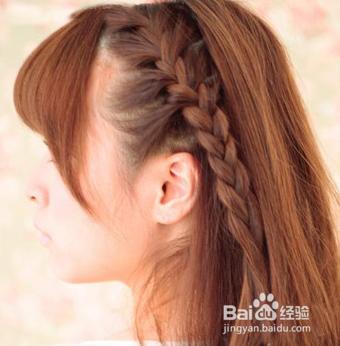 秋季学生发型 长发编发半扎发教程图片