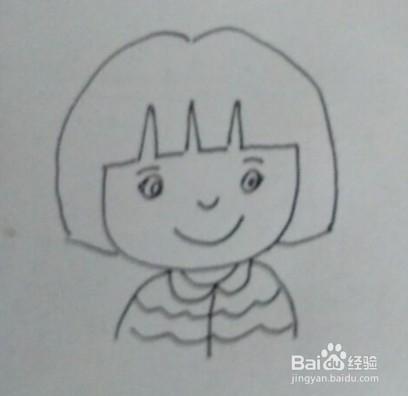 可爱的小妹妹怎么画?简笔画