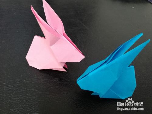 简单折纸:可爱的立体小兔子的折法图片