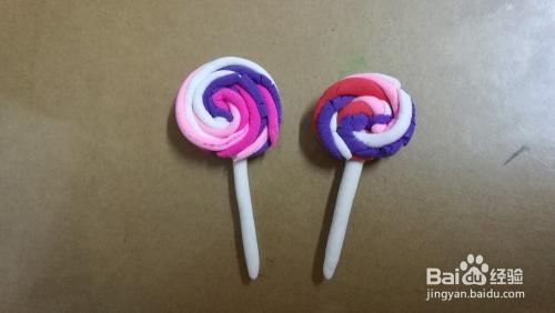 如何用超輕黏土做出棒棒糖圖片