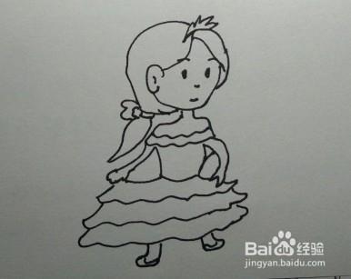 人物簡筆畫:教你畫漂亮的小公主