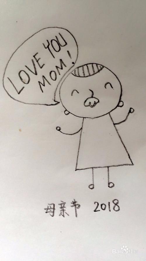 母亲节小朋友画给妈妈的画