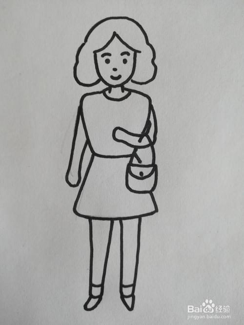 妇女节妈妈简笔画儿童画卡通怎么画图片