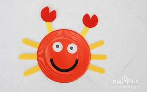 幼儿园亲子手工diy制作:彩色纸盘diy图片