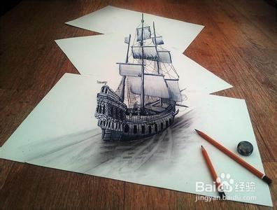 怎样用铅笔画立体画图片