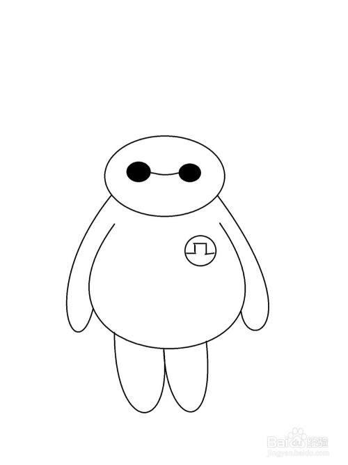 简笔画大白机器人_com 大白是美国迪士尼动画《超能陆战队》中的机器人,它胖嘟嘟的体形