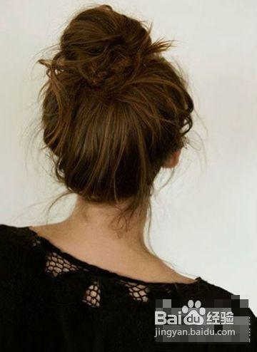 冬季盘发发型优雅盘发尽显温婉气质图片