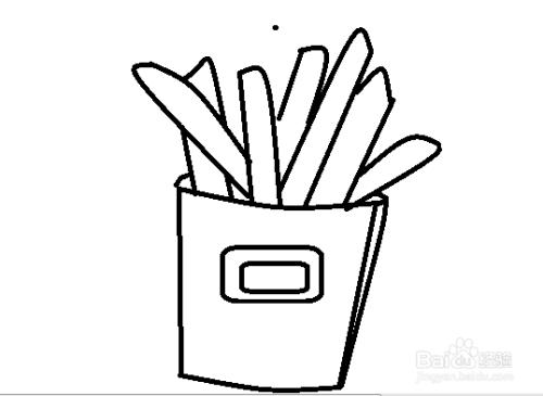 美食薯条简笔画图片