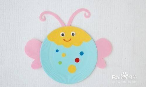 幼兒園親子手工diy制作:彩色紙盤diy圖片