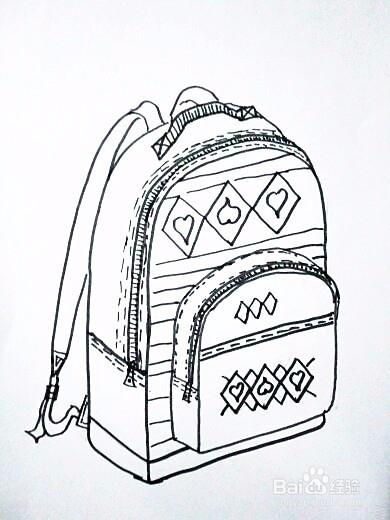 速写背书包_书包怎么画图片-简单的书包怎么画图片/画书包的图片大全/书包 ...