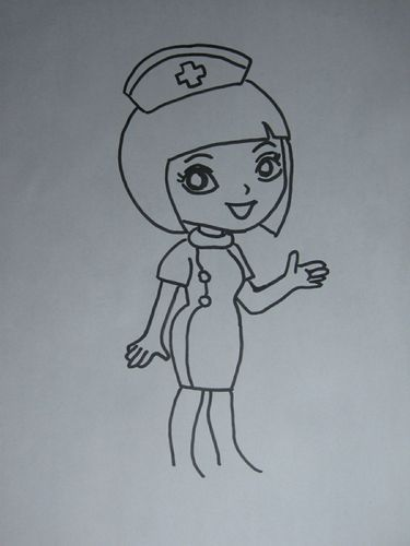 姐姐怎么画_教你画护士姐姐