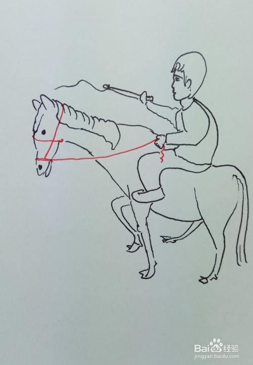 """怎样画儿童简笔画""""骑马奔驰""""?"""