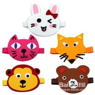 动物做�_6 除了像帽子一样的动物头饰,还可以给小女孩做其他漂亮的动物头饰