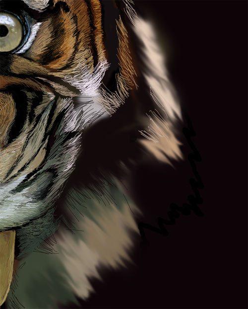 用photoshop画过程的老虎[2]饮料瓶的六合无绝对片图片