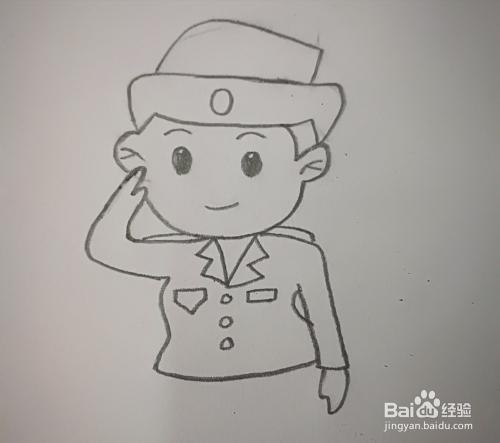 怎样画好女警的简笔画?图片