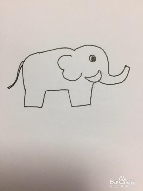 大象怎么画简单好学图片