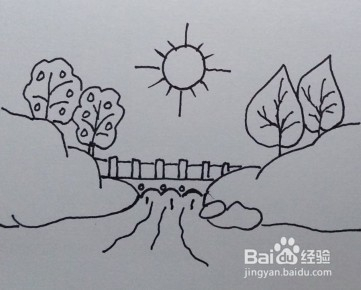 风景简笔画(方法和步骤)