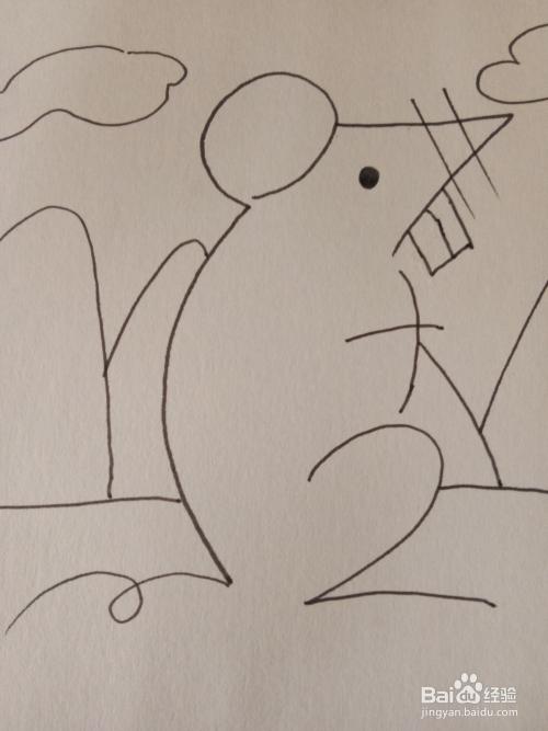 十二生肖之老鼠简笔画图片