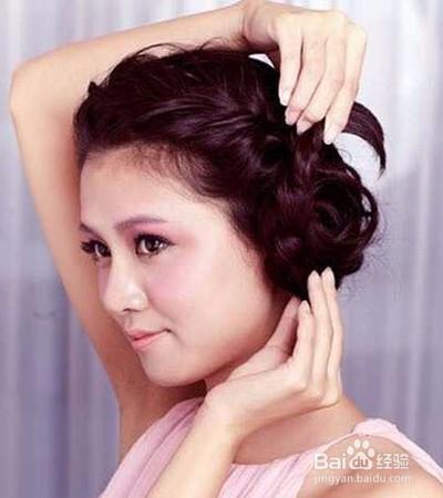 韩式新娘盘发发型图解图片