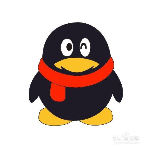 如何画qq企鹅简笔画