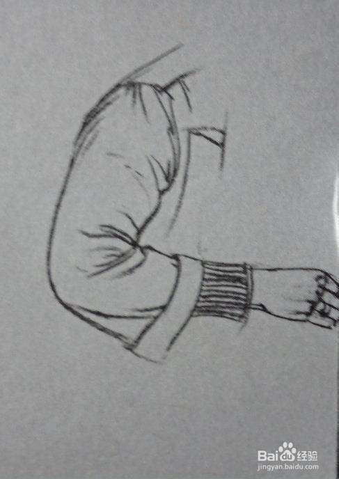 速写人物胳膊弯曲侧面的画法图片