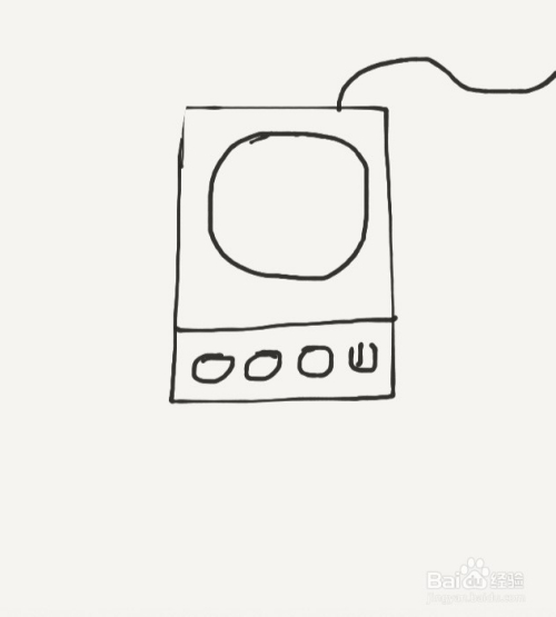 涂鸦系列之如何画电磁炉图片