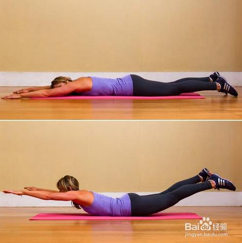 六个简单易学的v易学瑜伽之臀部大腿睡前减瘦腿和动作图片