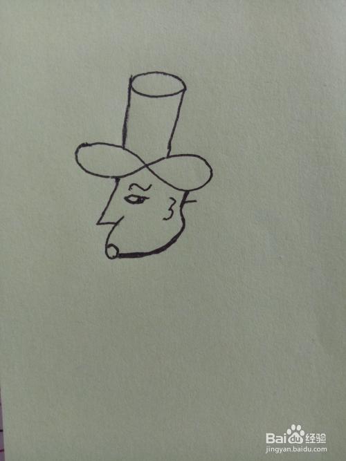 用数字0-9画男人的头像简笔画图片