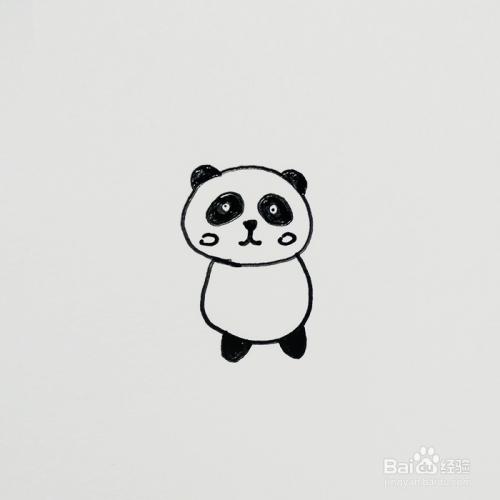 简笔画课堂:可爱的小熊猫图片