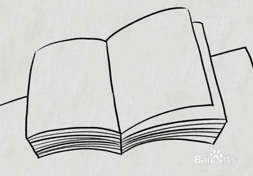 怎樣畫打開的書,翻開的書怎么畫圖片