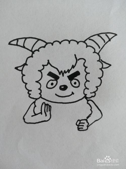怎么画沸羊羊的简笔画,沸羊羊简笔画