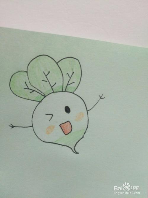 手抄报怎么画简单可爱的拟人的白萝卜
