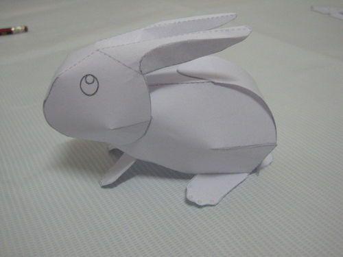 v虾酱3d纸模小虾酱对白兔介绍图片