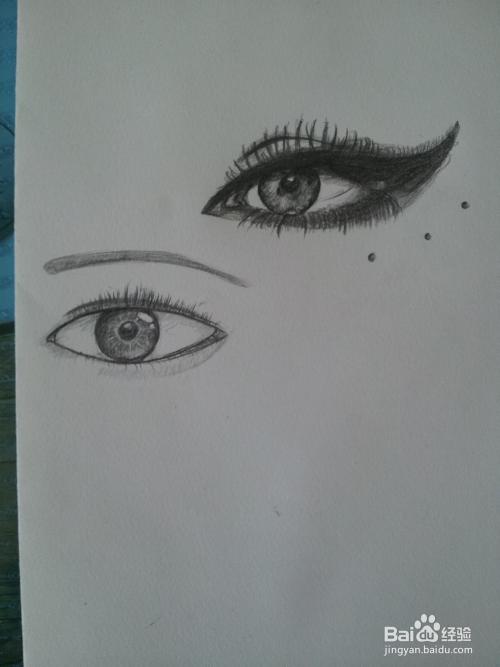眼睛绘画方法:[1]初学者如何绘画眼睛图片