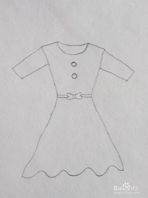 7 根据我的灵感,我又给裙子加上两行花边.图片