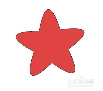 ai中怎么画好看的五角星圆角星型图片