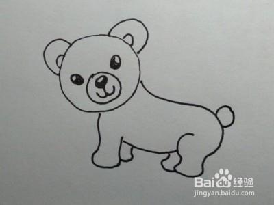 儿童简笔画教程:一步一步教你如何画小熊图片