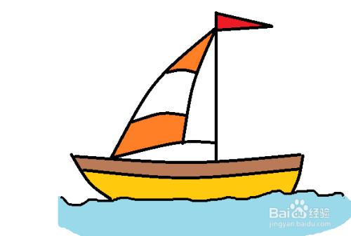 帆船简笔画怎么画