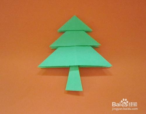 儿童趣味手工折纸----小松树图片