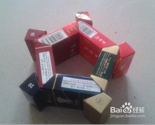 怎样用烟盒制作烟灰缸图片