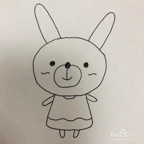 超可爱的熊熊兔儿童简笔画绘画方法图片
