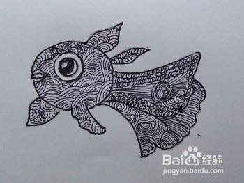 线描画:金鱼图片