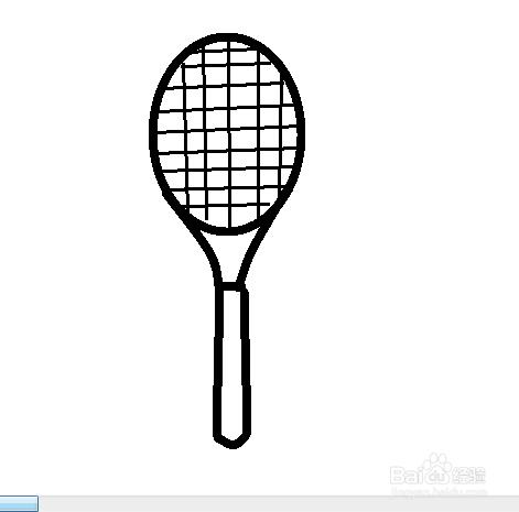 网球拍简笔画图片3张