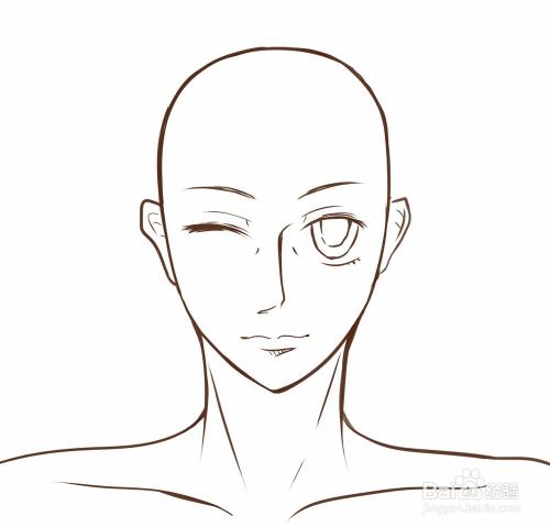 怎么画漫画人物的头发(正面)