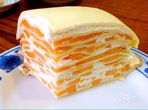 千层蛋糕的做法_超级好吃的芒果千层蛋糕做法