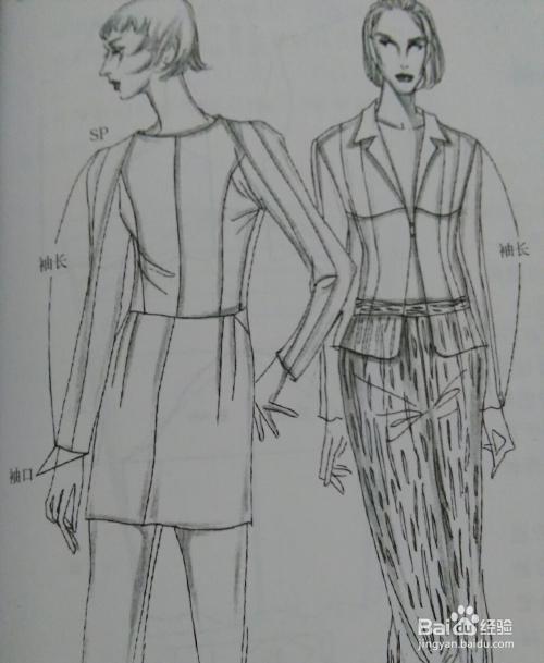 袖长的确定要根据袖子款式先确定袖口线的位置,另外再考虑服装是否图片