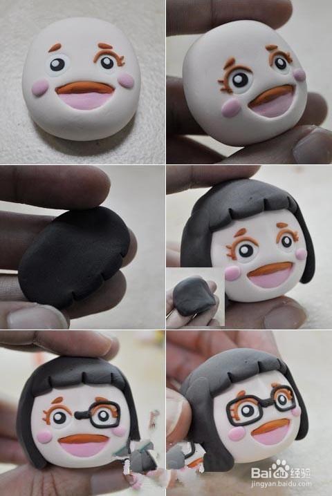 超轻粘土教程:日本娃娃菜菜的制作方法图片