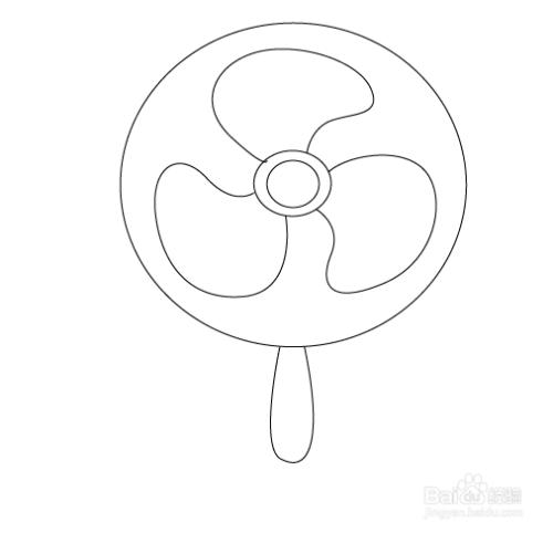 ai如何绘制电风扇图片
