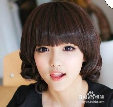 生活中圆脸适合的显瘦发型大全图片