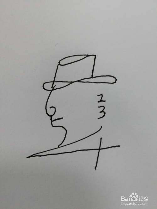 简笔画(21)——用数字1-10画一个小人图片